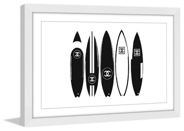 """surfboards"" Framed Painting Print."