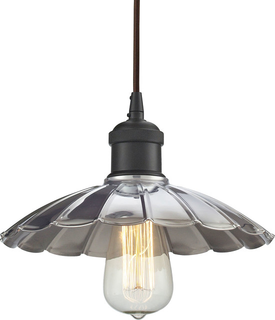 Corrine 1 Light Pendant Farmhouse Pendant Lighting by HedgeApple