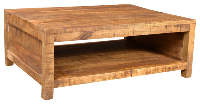 VidaXL Antique Style Mango Wood Coffee Table Rustic Coffee Tables