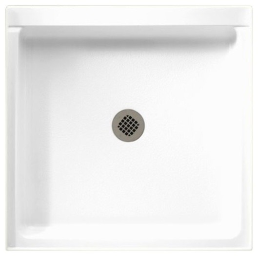 Swan 36.375x36.188x5.5 Solid Surface Shower Base, White by Swan