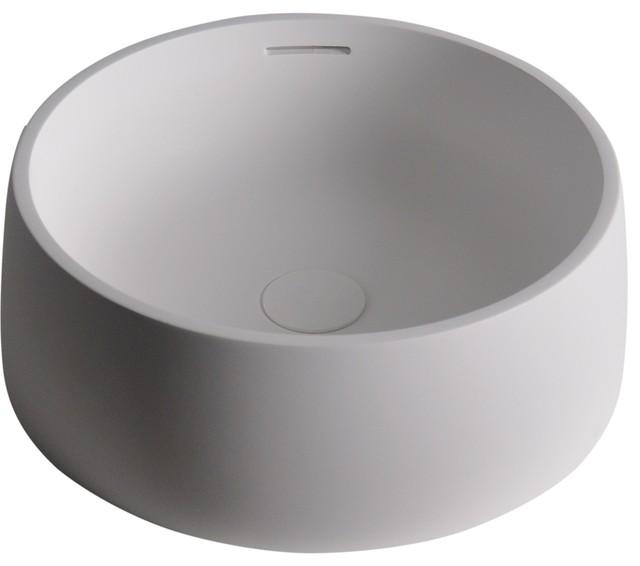Round sink bowl Metal Vessel Quod Round 17 Houzz Quod Round 17