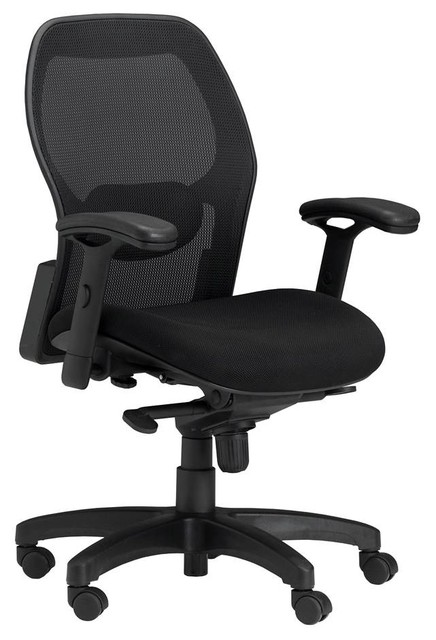 Office Chair With Mesh Back Lumbar Panel Contemporary Office Chairs