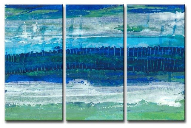 Max E Deeper Ocean Layers 3 Piece Canvas Art Set