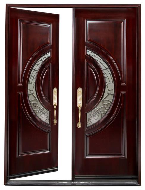 30x80x2 Left Hand Swing In Exterior Front Entry Double Wood Door