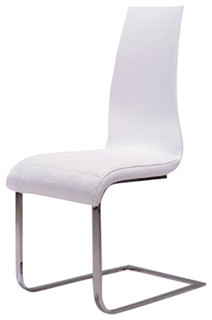 White Gloss Dining Chairs, Set of 2