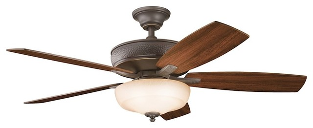 Kichler Monarch Ii Select 52 Fan, Olde Bronze, Pine Bark, Walnut/light Cherry.