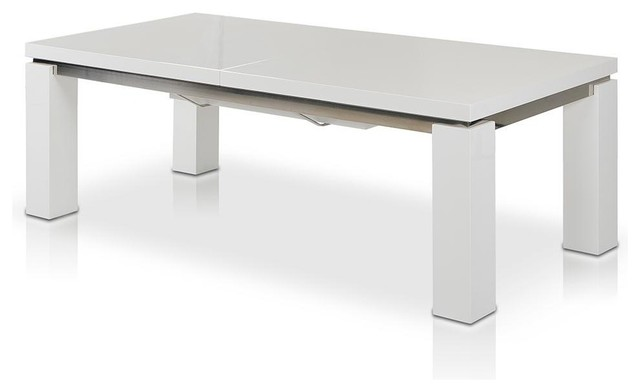 Maxi 78 126 High Gloss White Extendable Dining Table