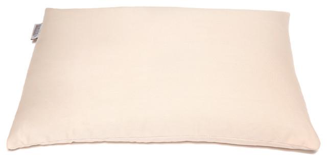 Buckwheat Pillow - buckwheat hull support pillow off white /cream  Organic Buckw