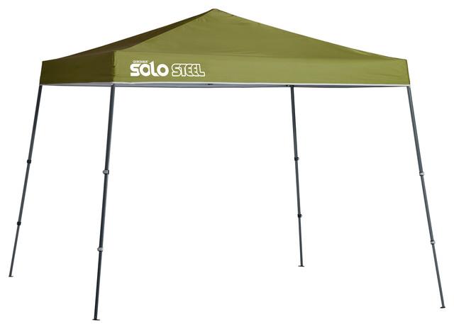Solo Steel 72 11&x27;x11&x27; Slant Leg Canopy, Olive.