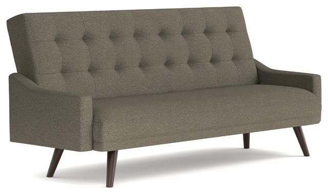 Oak Creek Click Clack Futon Sofa Bed, Tobacco Linen.