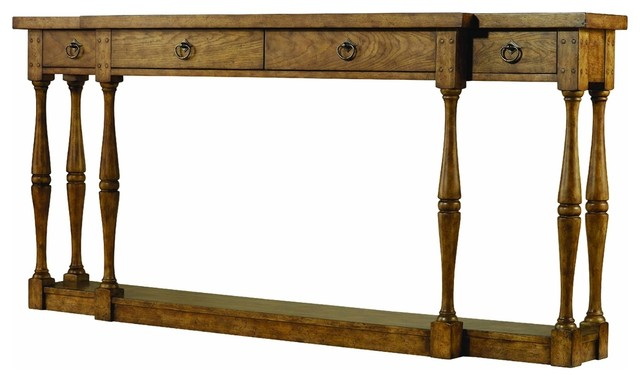 Hooker Furniture Sanctuary Four Drawer Thin Console, Drift.