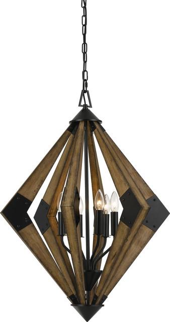 60W Arezzo Wood Chandelier