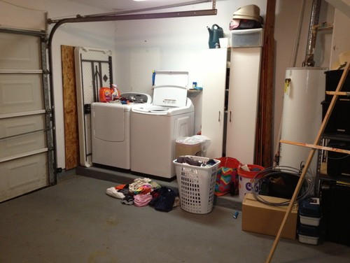 we are in desperate need of a laundry room. Black Bedroom Furniture Sets. Home Design Ideas