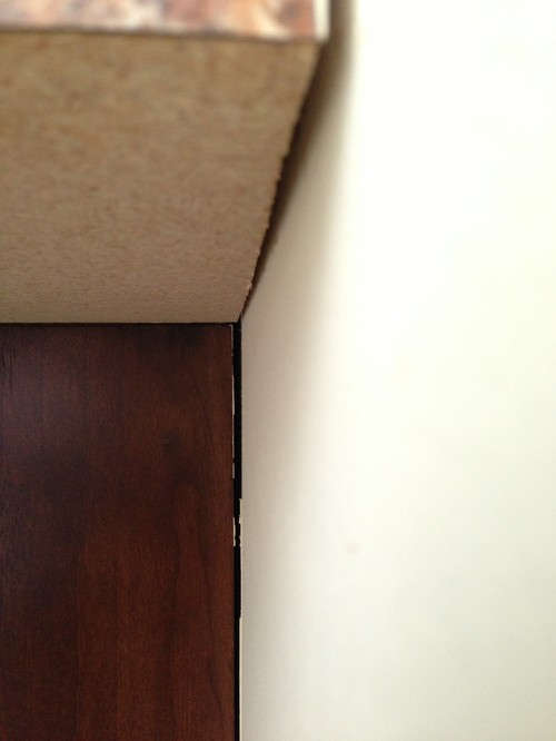 Normal For Laminate Countertop To Separate From Drywall In