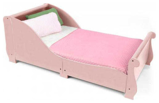 Sleigh Toddler Bed Pink