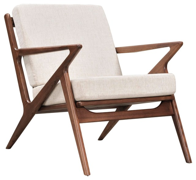 Limn Mid Century Modern Walnut Brown Arm Chair  : midcentury armchairs and accent chairs from www.houzz.com size 640 x 588 jpeg 59kB