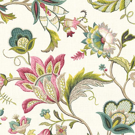 Floral Linen Upholstery Fabric Hy04 Advancedmassagebysara