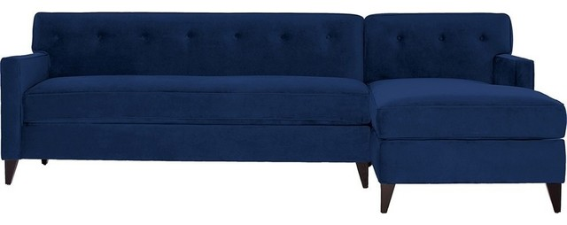 Harrison 2 Piece Sectional Sofa, Blueberry, Chaise On Right (as Shown)
