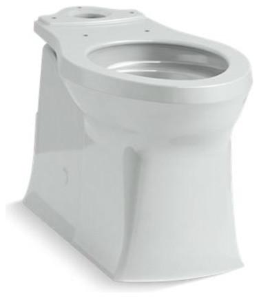Admirable Kohler Corbelle Elongated Toilet Bowl W Skirted Trapway Ice Grey Dailytribune Chair Design For Home Dailytribuneorg