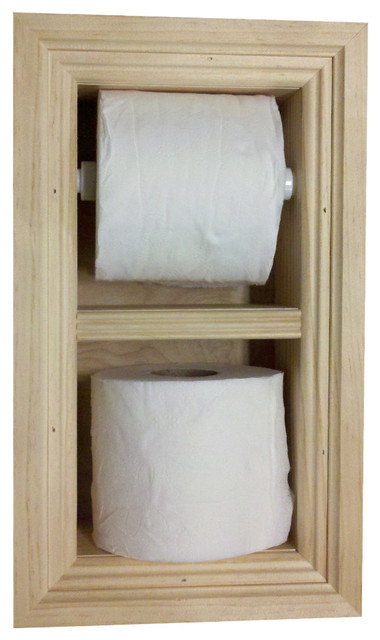 Diamond Recessed Toilet Paper Holder Spare Roll