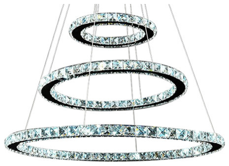 3 Circle Diamond Ring LED Crystal Chandelier