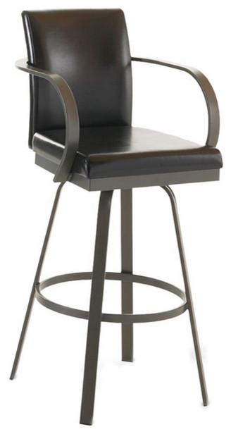 Traditional Highback Swivel Chair Transitional Bar