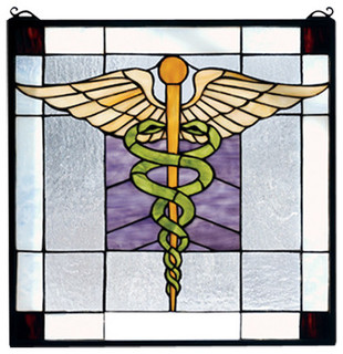 "Meyda Tiffany - 18""x18"" Medical Stained Glass Window - View in Your Room! 