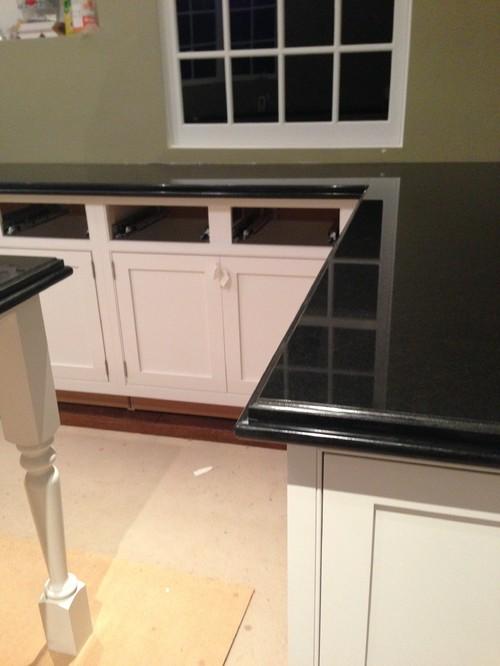 Granite overhang for Granite counter overhang