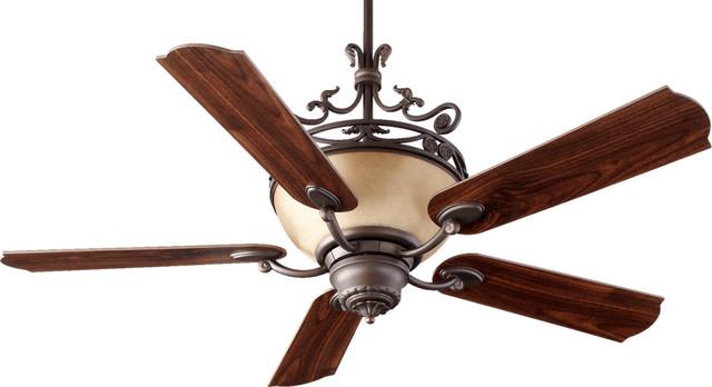 Turino 4-Light Indoor Ceiling Fans, Oiled Bronze.