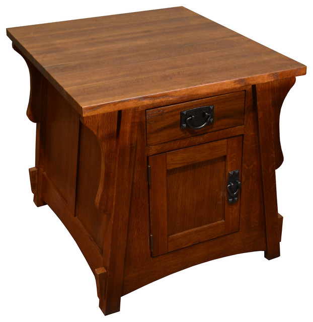 Crofter Mission Solid Oak 2 Sided End Table Craftsman Side Tables And