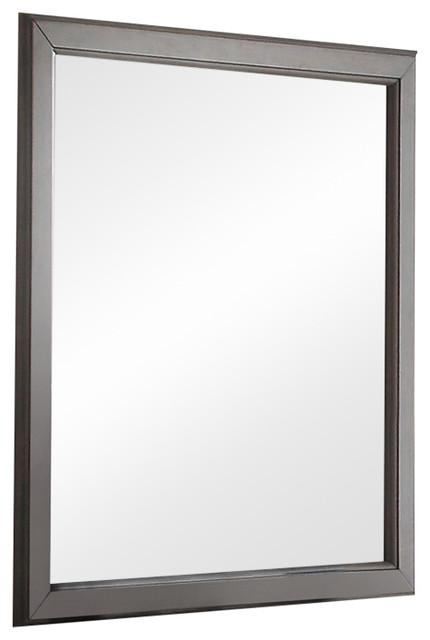 Acme Louis Philippe Mirror, Antique Gray.