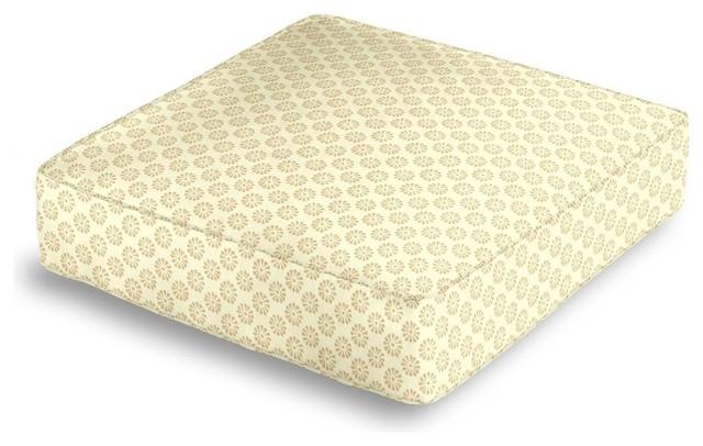 Floor Box Pillows : Metallic Gold Dot Box Floor Pillow - Contemporary - Decorative Pillows - by Loom Decor