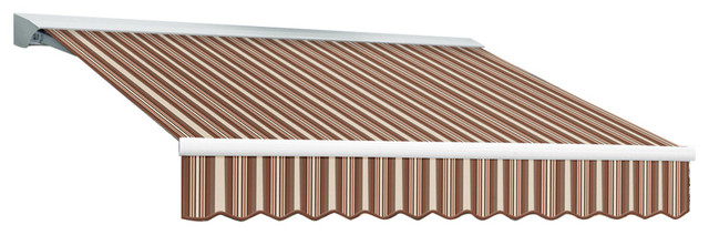 "20&x27; Destin-Lx Manual Retractable Awning, 120"" Projection, Brown And Terra."