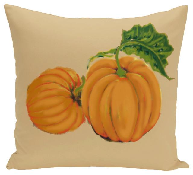 E by design 26 x 26-inch Gray Geometric Print Pillow Paper Mache Pumpkins