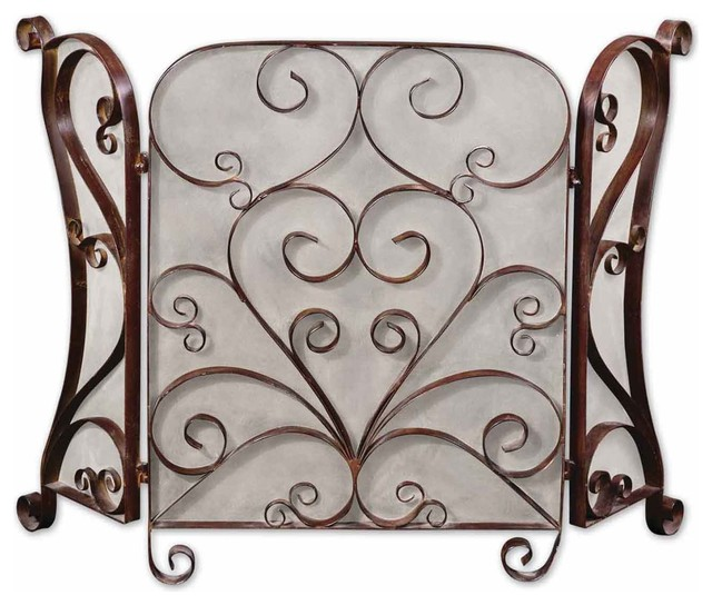 Uttermost Daymeion Metal Fireplace Screen.