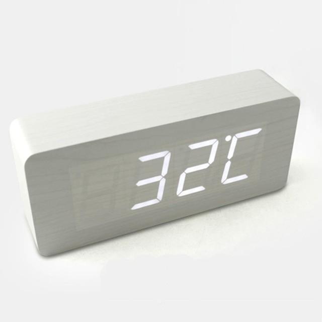 Hito Wood Grain LED Alarm Clock