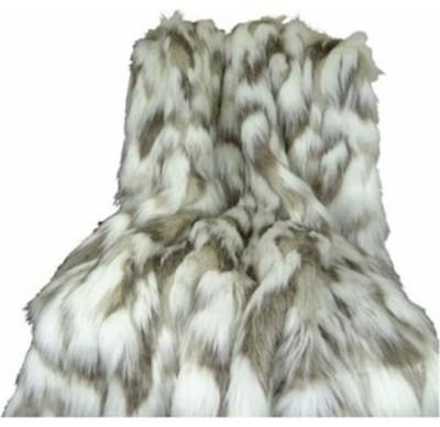 Plutus Tibet Faux Fox Handmade Throw Blanket, 114 X 120