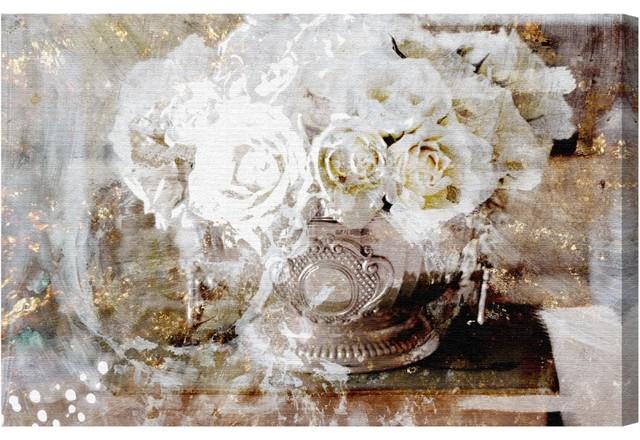 """serving Roses"" Canvas Art, 30""x20""."