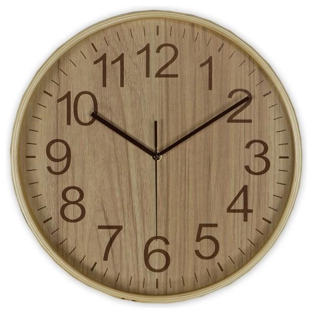 Reloj de pared madera n rdico relojes de pared otras - Relojes rusticos de pared ...