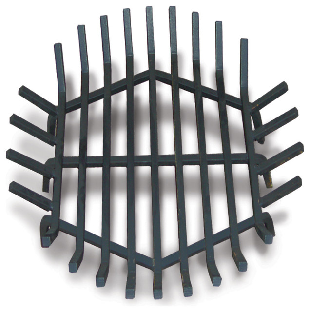 Round Fire Pit Grate Welded Steel Contemporary