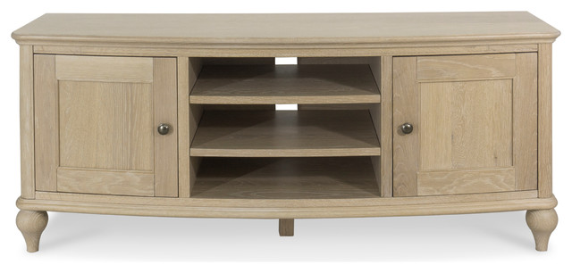 Bourne Chalk Oak Tv Unit.