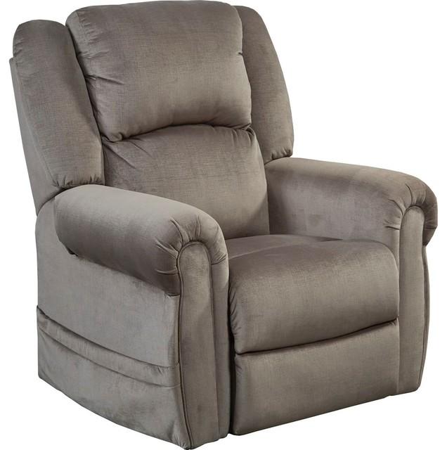 Ferrington Power Lay Flat Reclining Living Room Set Dusk: Catnapper Spencer Power Headrest Power Lift Lay Flat