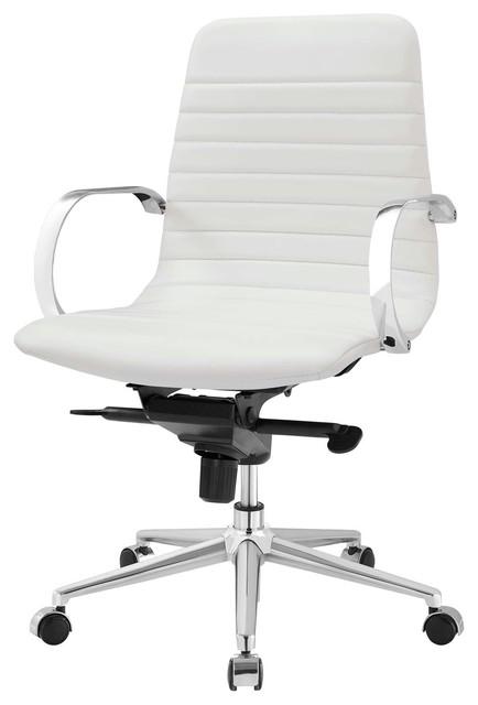 Modern Urban Living Home Business Office Furniture Work Desk Chair, White