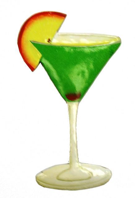 Tropical Vodka Apple Martini Haitian Metal Wall Decor