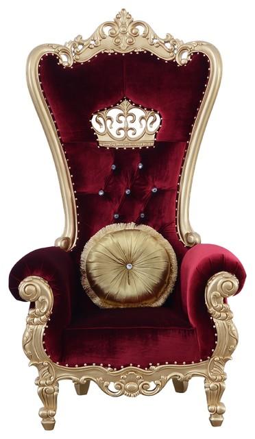 Surprising Elizabeth High Back Chair Burgundy Red Velvet Ibusinesslaw Wood Chair Design Ideas Ibusinesslaworg