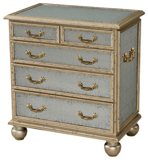 Theodore Alexander Eglomise Small Starlight Chest, Small