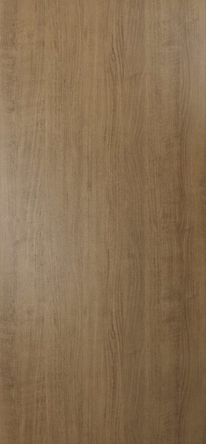 "Interior Modern Wood Flush Door Slab Smoky Walnut, No Pre-Drilled,, 30""x80""."
