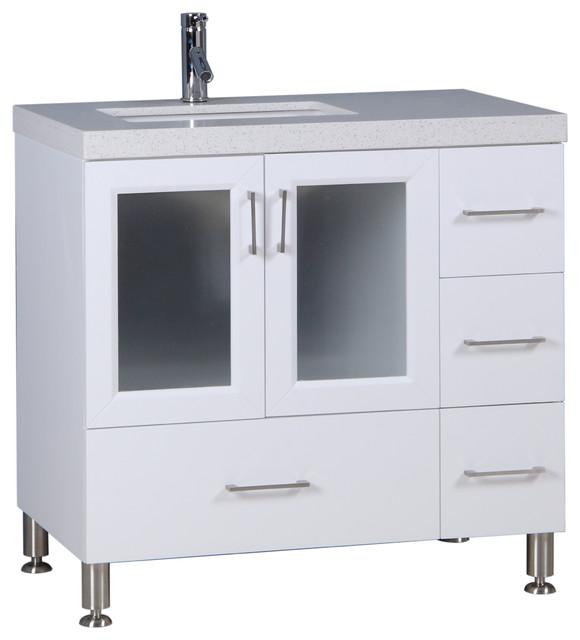 """Westfield 36"""" Single Sink Vanity, White"""
