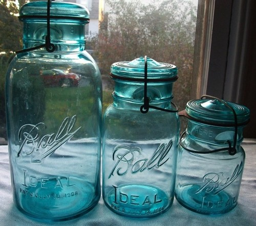 15 Vintage Blue Ball Jar Pints by Mattlaurajones traditional food containers and storage