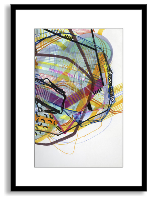 Jaime Derringer's 'Neon Jungle' Framed Paper Art, 27x40
